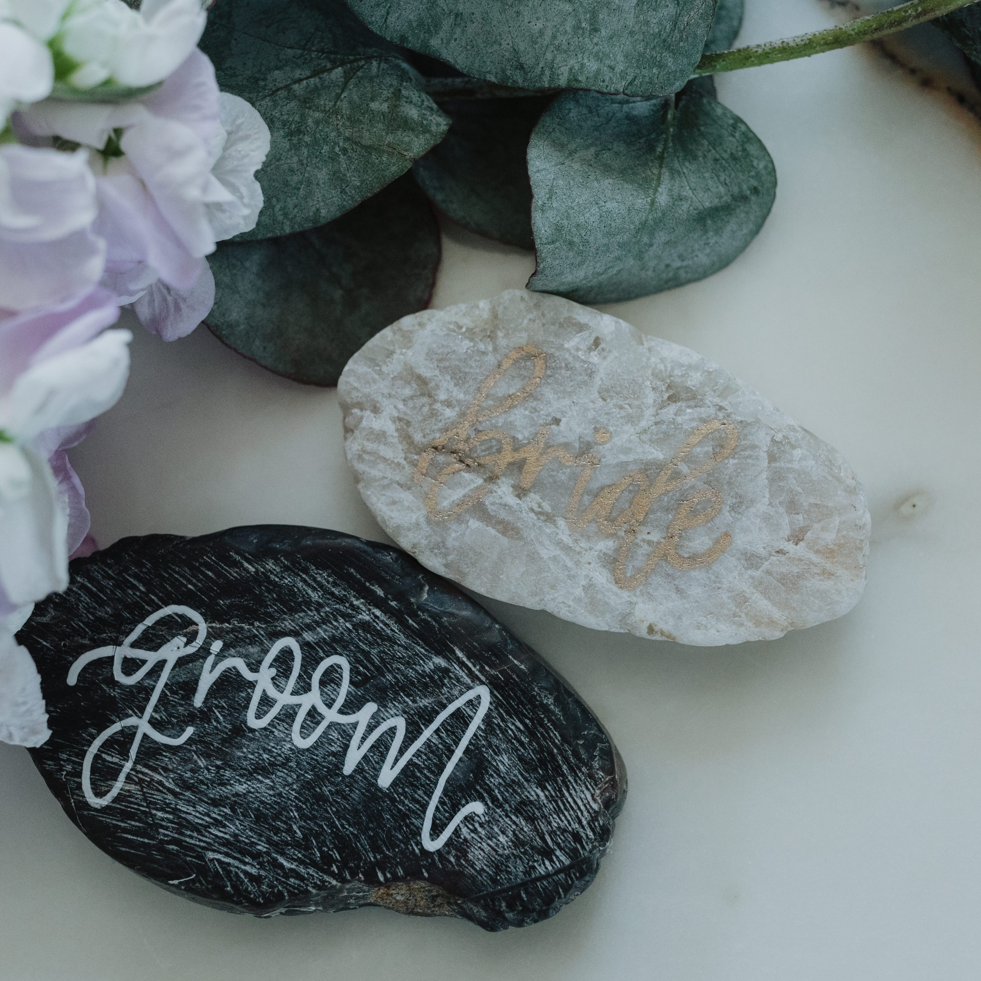 Calligraphy Stone Place Card