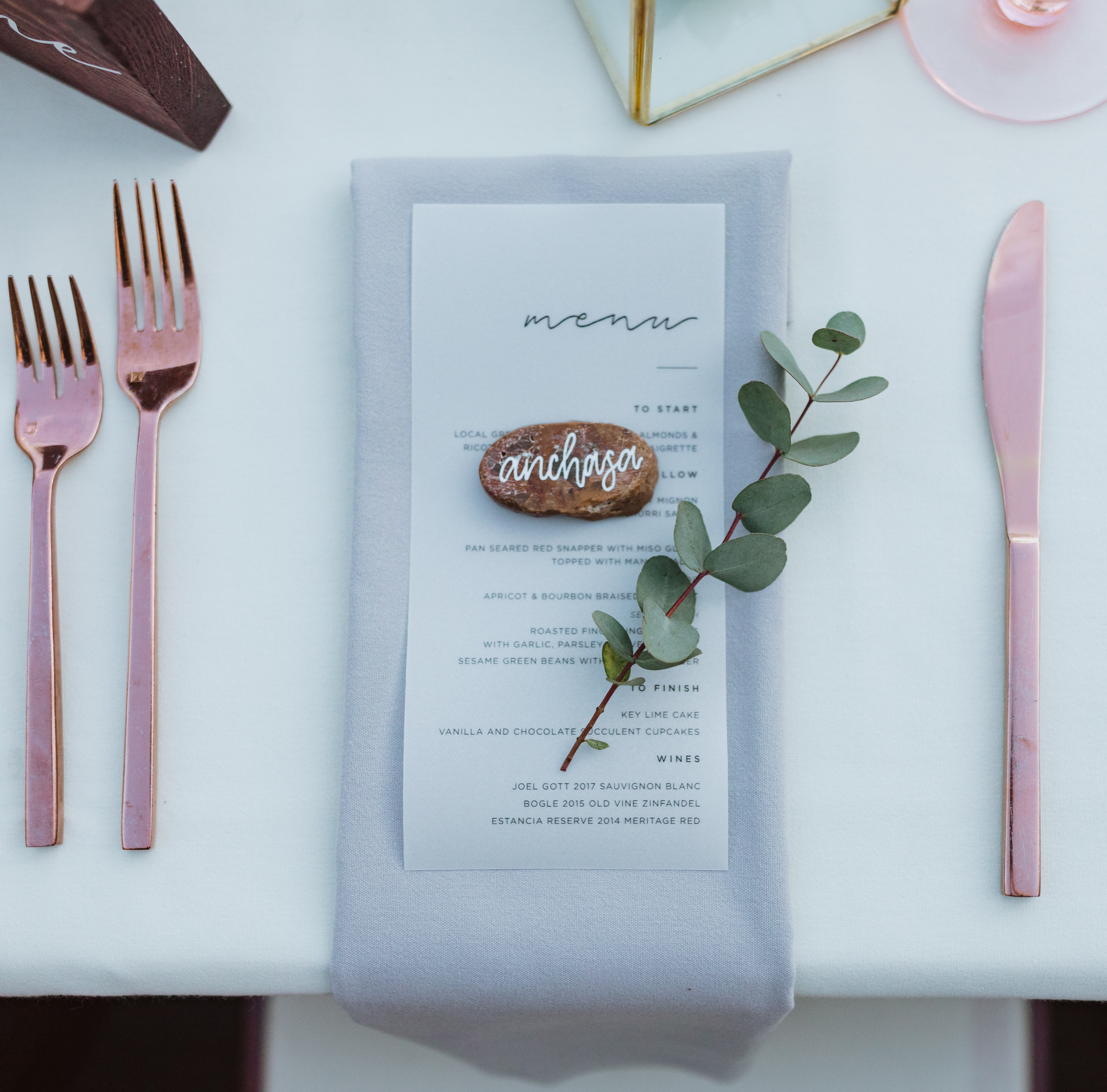 Rose Gold Utensils